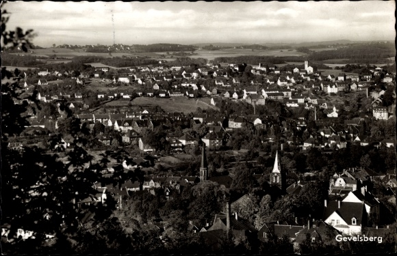 Ak Gevelsberg im Ennepe Ruhr Kreis, Panorama vom Ort