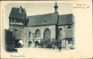 Ak Rothenburg ob der Tauber Mittelfranken, Wolfgangskirche, Straßenansicht
