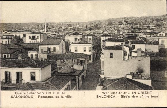 Ak Thessaloniki Griechenland, Panorama de la ville, Totalansicht vom Ort