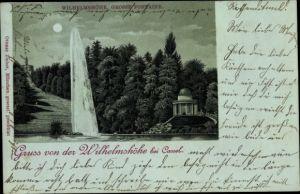 Mondschein Litho Kassel in Hessen, Gruss von der Wilhelmshöhe
