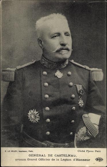 Ak Général de Castelnau, promu Grand Officier de la Légion d'Honneur