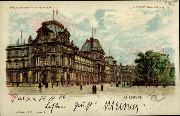 Haltgegendaslicht Litho Paris, Le Louvre, Kunstmuseum, Meteor 646