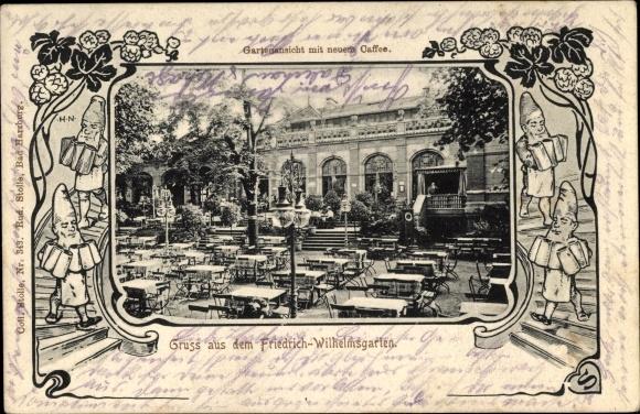 Passepartout Ak Magdeburg an der Elbe, Friedrich Wilhelms Garten