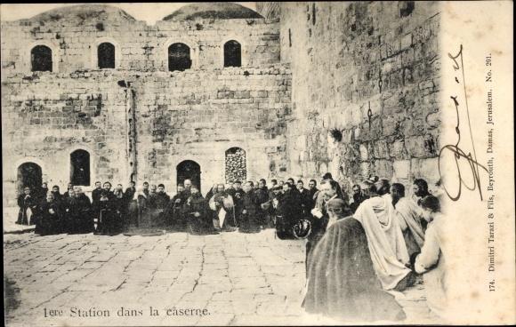 Ak Jerusalem Israel, 1ere Station dans la Caserne