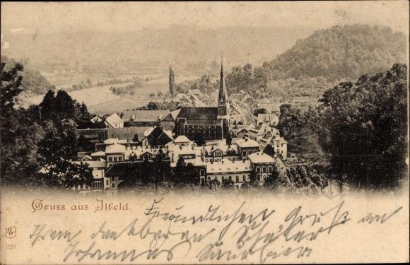 Ak Ilfeld Harztor in Thüringen, Totalansicht mit Kirche