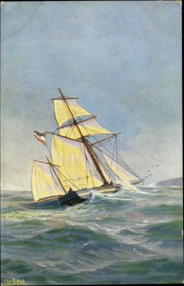 Künstler Ak Rave, Chr., Marine Galerie Nr. 257, Deutsche Sloop