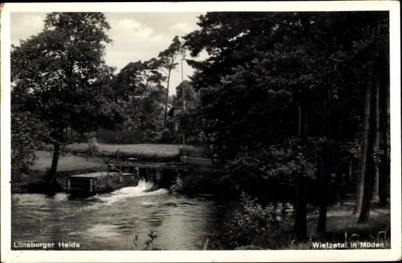 Ak Müden Faßberg Lüneburger Heide, Partie am Wietzetal
