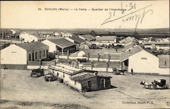 Ak Oudjda Oujda Marokko, Le Camp, Quartier de l'Intendance