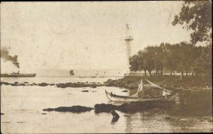 Ak Konstantinopel Istanbul Türkei, Fanaraki, Leuchtturm, Dampfer