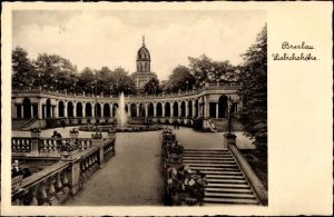 Ak Wrocław Breslau Schlesien, Liebichshöhe, Parkanlage
