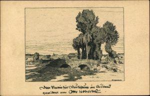 Künstler Ak Ubbelohde, Otto, Hessisches Dorf, Panorama vom Ort