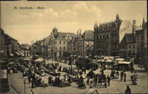 Ak Mönchengladbach Nordrhein Westfalen, Belebter Marktplatz