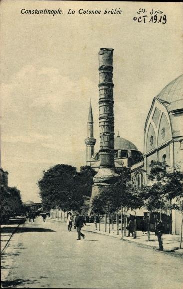 Ak Konstantinopel Istanbul Türkei, La Colonne brûlée