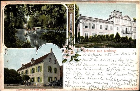 ak umkirch in baden w rttemberg gasthaus zum goldnen adler nr 2053355 oldthing. Black Bedroom Furniture Sets. Home Design Ideas