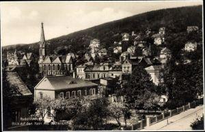 Ak Rudolstadt Thüringen, Blick auf den Hain m. Lutherkirche