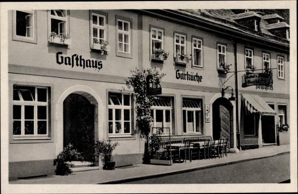 Ak Leutenberg Thüringen, Gaststätte zur Garküche, Straßenansicht