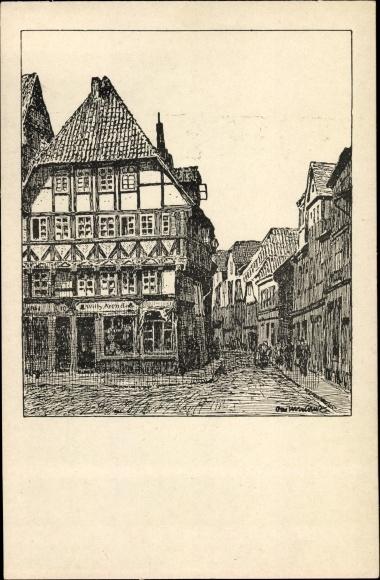 Künstler Ak Ubbelohde, Otto, Hameln, Blick in die Emmernstraße