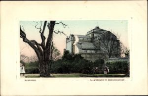 Präge Passepartout Ak Hannover in Niedersachsen, Palmenhaus in Herrenhausen
