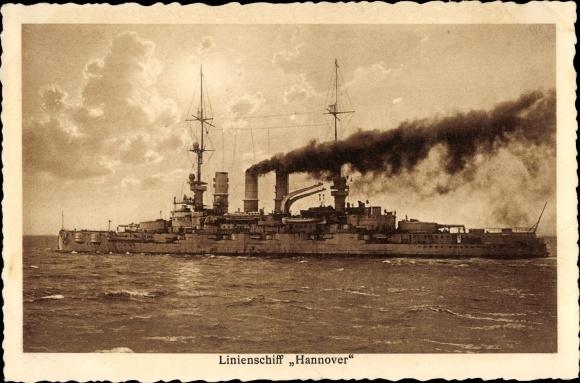 Ak Deutsches Kriegsschiff, Hannover, Linienschiff