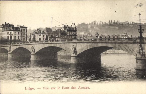 Ak Liège Lüttich Wallonien, Vue sur le Pont des Arches