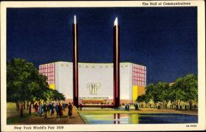 Ak New York USA, The Hall of Communications, New York World's Fair 1939