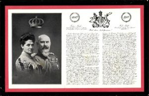 Ak Wilhelm II. König von Württemberg, Charlotte zu Schaumburg Lippe, Silberne Hochzeit 1911