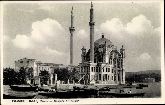 Ak Konstantinopel Istanbul Türkei, Ortaköy Moschee