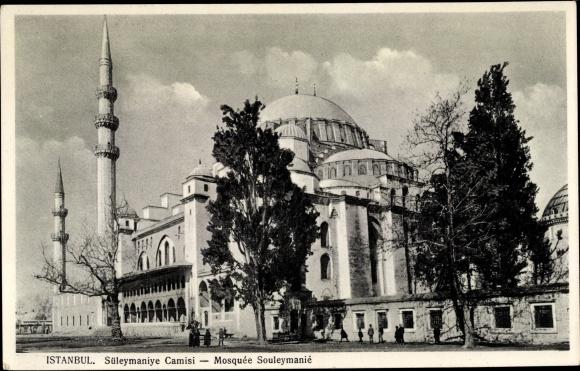 Ak Konstantinopel Istanbul Türkei, Süleymaniye Moschee