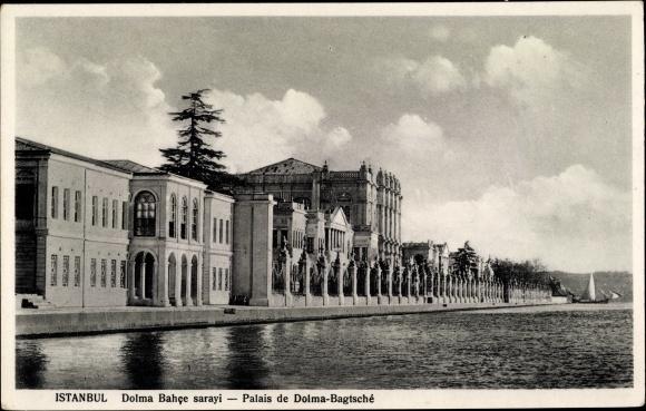 Ak Konstantinopel Istanbul Türkei, Dolmabahçe Palast