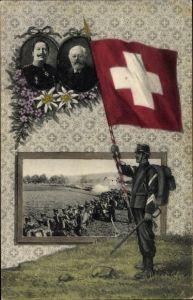 Passepartout Ak Besuch von Kaiser Wilhelm II., Manöver 1912, Ludwig Forrer