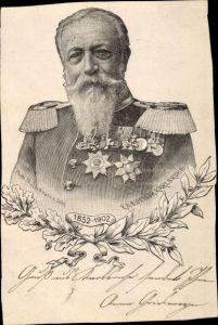 Künstler Ak Großherzog Friedrich I. von Baden, Portrait