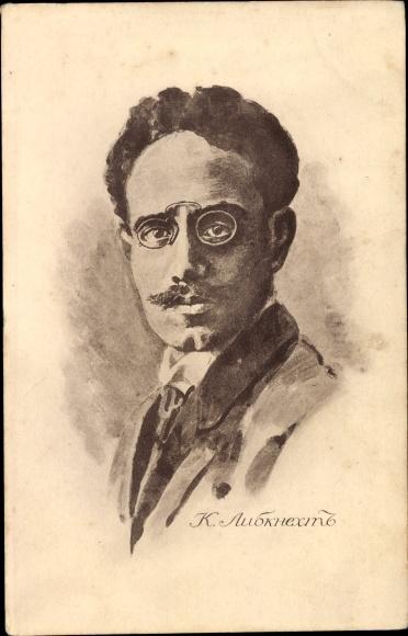 Künstler Ak Karl Liebknecht, Marxist, Antimilitarist, Portrait