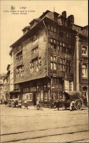 Ak Liège Lüttich Wallonien, Vieille maison du Qual de la Goffe, Maison Havert