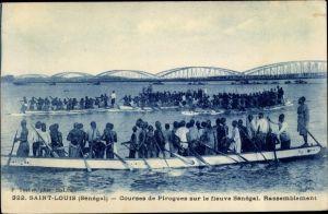 Ak Saint Louis Senegal, Courses de Pirogues sur le fleuve Sénégal, Rassemblement