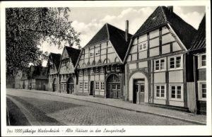Ak Rheda Wiedenbrück in Westfalen, Alte Häuser in der Langestraße