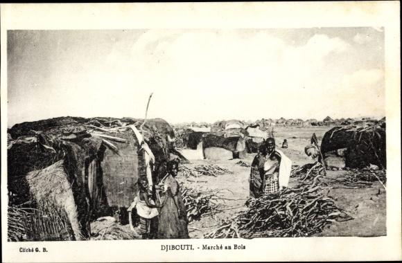 Ak Djibouti Dschibuti, Marché en Bois