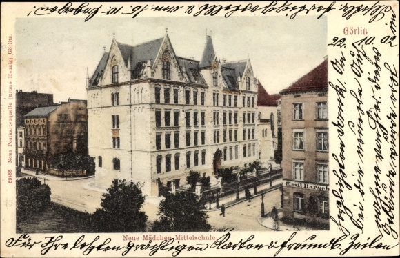 Ak Görlitz der Lausitz, Neue Mädchenmittelschule