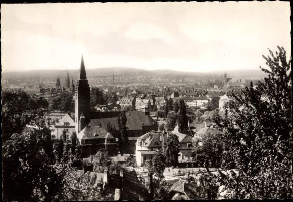 Ak Winterberg im Sauerland, Totalansicht vom Ort, Blick vom Winterberg aus Christ König Kirche
