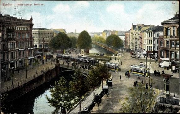 Ak Berlin Tiergarten, Potsdamer Brücke