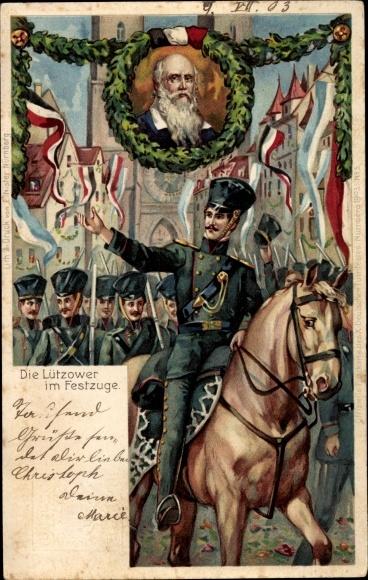 Ganzsachen Litho Nürnberg, Deutsches Turnfest 1903, Lützower, Jahn, GSB PP15 C56 05
