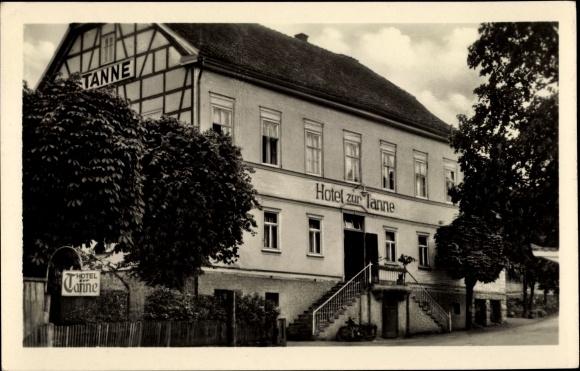 Ak Finsterbergen Friedrichroda Thüringen, Hotel zur Tanne, Außenansicht