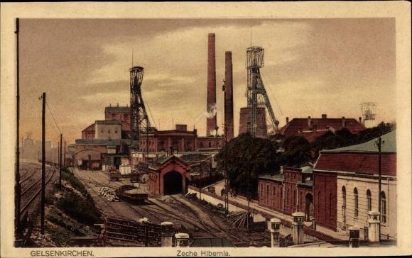 Ak Gelsenkirchen im Ruhrgebiet, Zeche Hibernia