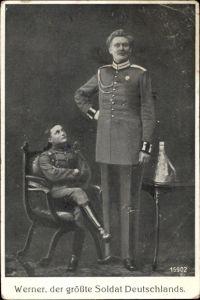 Ak Werner, der größte Soldat Deutschlands, Portrait