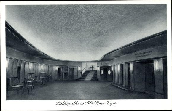 Ak Selb Oberfranken, Lichtspielhaus, Ansicht des Foyers, Inh. Hans Vogel