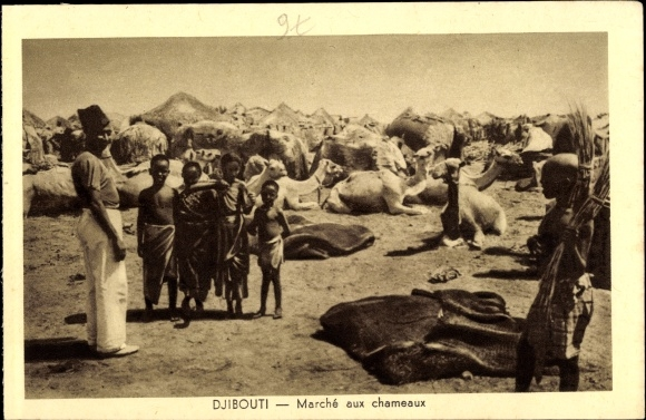 Ak Djibouti Dschibuti, Marché aux chameaux, Kamele