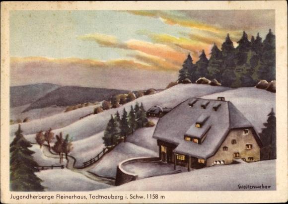 Ak Todtnauberg Todtnau im Südschwarzwald, Jugendherberge Fleinerhaus