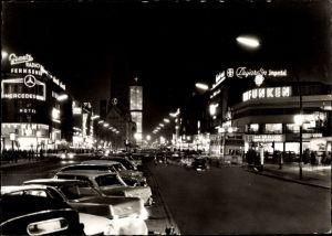 Ak Berlin Charlottenburg, Kurfürstendamm bei Nacht
