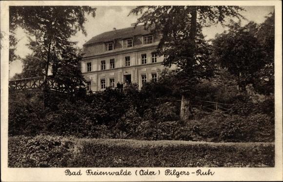 Ak Bad Freienwalde an der Oder, Pilgers Ruh, Außenansicht