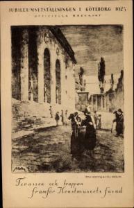 Künstler Ak Göteborg Schweden, Jubileumsutställningen 1923, Terassen och trappan