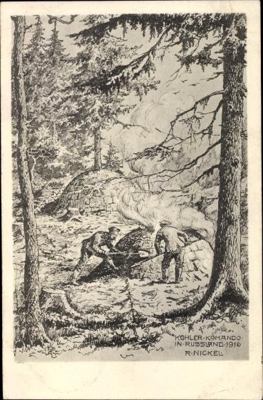 Künstler Ak Nickel, R., Köhler Kommando in Russland 1916